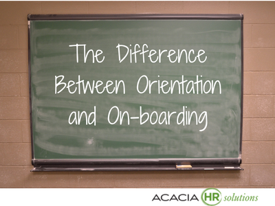 The Difference Between Orientation and On-boarding