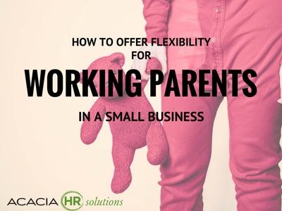 flexibility as a perk