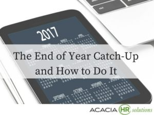 Discover how to catch up on tasks for the end of the year with the catch up list.