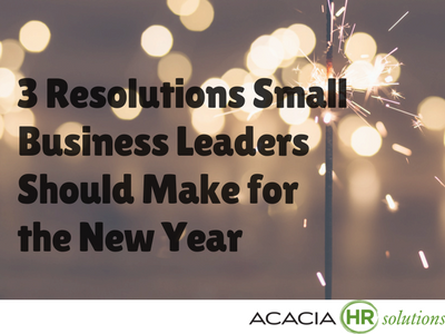 Get the best small business leadership help, tips, resources and advice including 3 New Years resolutions for owners.