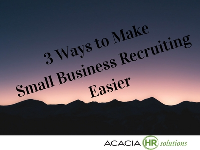 Discover human resources job recruitment strategies and staff employee hr recruiting methods and solutions for small business. Tap here to visit AcaciaHRSolutions.com